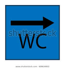 Bathroom sign with arrow Right Arrow Wc Icon And Arrow Right In Blue Square On White Background Sign Restroom Women And Popisgrzegorz Royalty Free Stock Illustration Of Wc Icon Arrow Right Blue Square