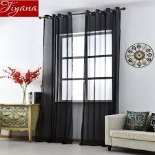 Schwarz Vorhänge Feste Voile Für Wohnzimmer Fenster Schlafzimmer