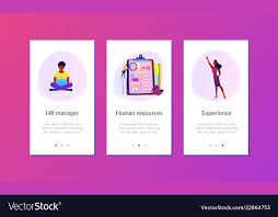 job interview template job interview app interface template royalty free vector