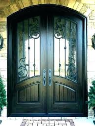 half glass front door door options stained