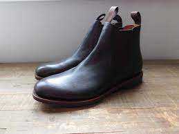 details about jcrew kenton leather chelsea boots 12 248 dark brown mens shoes f4449 new