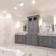 vanity cabinets for bathrooms. Gray Raised Panel Bathroom Cabinets With Carrera Marble Countertop Vanity For Bathrooms A