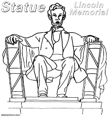10 gellery of lincoln memorial coloring page