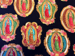 Our Lady Of Guadalupe Virgin Mary Religious Catholic Cotton Quilt ... & Our Lady Of Guadalupe Virgin Mary Religious Catholic Cotton Quilt Fabric  RK120 Adamdwight.com