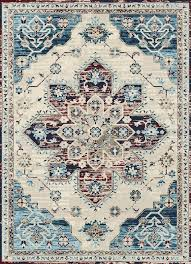blue red area rug