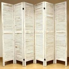 folding privacy screen screen room dividers cream 6 panel wooden slat room divider home privacy
