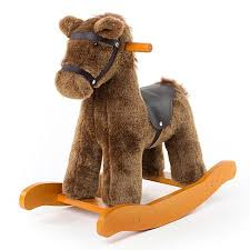 for labebe baby wooden rocking horse brown knight boys girls toddler rocking ride on toys for 1 3 years old stuffed animal seat astm ce safety