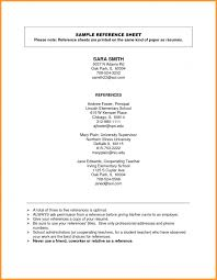 Resume Reference Page Template Reference List Template List Template Trakore Document Templates 75