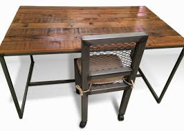 modern wood office furniture. Metal And Wood Desk Modern Steel Chair Office Furniture Denver Colorado Industrial
