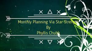 Monthly Planning Via Tarabalam Star Strength By Phyllis Chubb