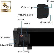 LP-09 Portable Speaker Sound Bar Bluetooth 5.0 Speaker 40W Soundbar 3D Home  Theater Sound Amplifier Speakers Remote Control AUX, black: Amazon.co.uk:  Electronics & Photo