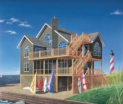 Beach Style House Plans   2392 Square Foot Home , 2 Story, 5 Bedroom And 3  Bath, 0 Garage Stalls By Monster House Plans   Plan 5 846
