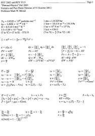 formula sheets thermal 1