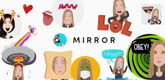 mirror emoji keyboard sticker maker cover