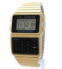casio gold watch men casio men s gold plated stainless steel databank calculator watch dbc611g 1