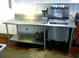 countertop ice bin ice bin with drain stainless steel table soda dispensers water and 0 ice
