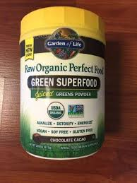 perfect food raw cacao garden of life organic vegan greens protein and ings