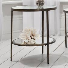gallery direct hudson bronze metal and glass side table gallery direct from house of isabella