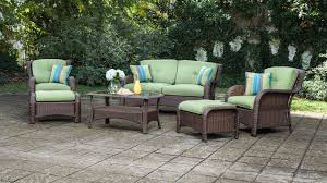 contemporary wicker patio furniture set new in style home design picture apartment sawyer 6pc resin wicker patio furniture conversation set green gallery