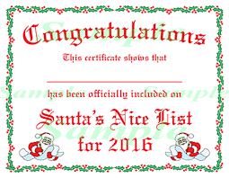 Formal, school, graduation, sports, award choose a category below and then click on any template preview to get started. Free Printable Certificates From Santa Nice List Certificate Certificate Templates Santa S Nice List