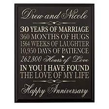 lifesong milestones personalized 30th wedding anniversary gift for couple custom made 12 inches wx 16