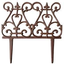 esschert design garden fence cast iron
