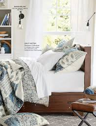 pottery barn fall 2017 d1 mackenna paisley duvet cover full queen blue