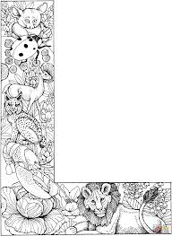 Letter L With Animals Coloring Page | Free Printable Coloring Pages
