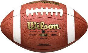 com wilson 1005 ncaa leather game football official foot sports outdoors
