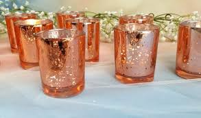 gold votive candle holders per rose gold mercury glass votive candle holders wedding reception decor engagement