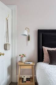 blush pink and black bedroom