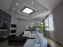 large recessed lighting. Living Room Recessed Lighting Design With Large Window And White Leather Sofa Also Small Black Table Facing Flat Television G