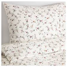ikea ljusoga duvet cover and pillowcase queen flower