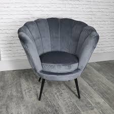 grey velvet chair. Contemporary Velvet Dark Grey Velvet Boudoir Chair In R