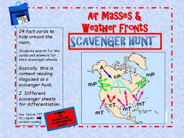 Air Mass And Weather Front Scavenger Hunt