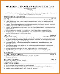 Material Handler Resume 9 Techtrontechnologies Com