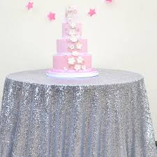 silver sequin round tablecloth
