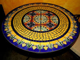 tile outdoor table. Tile And Glass Mosaic Tables Outdoor Table