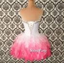 Pink short prom dresses photo