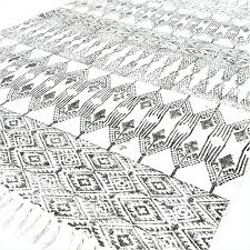 white cotton rag rug woven cotton rugs black white cotton block print area accent rug hand