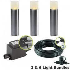 techmar oak garden led post light kit