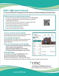 View Patient Health Records Online Regional Medical Center