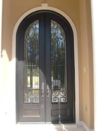 Heres Another Wrought Iron Arch Top Double Entry Door For Your - Iron exterior door