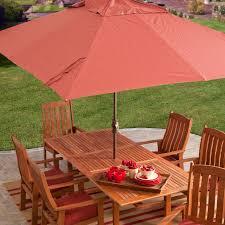 Aluminum Spun Poly Rectangle Patio Umbrella   Hayneedle