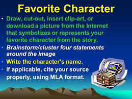 Cube Reading Response Directions Favorite Character Character Extraordinary Download Favorite Qoute