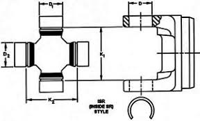 Spicer U Joint Chart Details About Universal Joint Dana Spicer 5 3226x