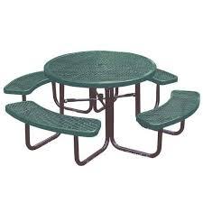 round outdoor metal table. 358rdv-46-round-outdoor-table-with-benches Round Outdoor Metal Table M