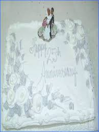 25th Wedding Anniversary Cake Ideas Designs For Image Below Of 2