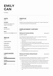 Waiter Resume Sample Restaurant Server Resume Sample Fresh Restaurant Waiter Resume New 41