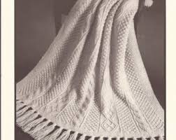 Knitted Afghan Patterns Classy Reynolds Candide Aran Afghan Knitting Pattern No48 Size 48 X 48